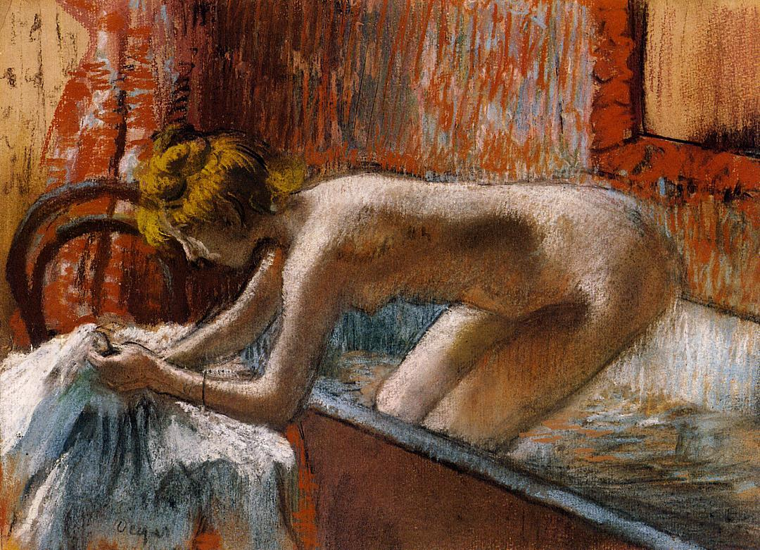 Woman Leaving Her Bath 1886-1888 | Edgar Degas | Oil Painting