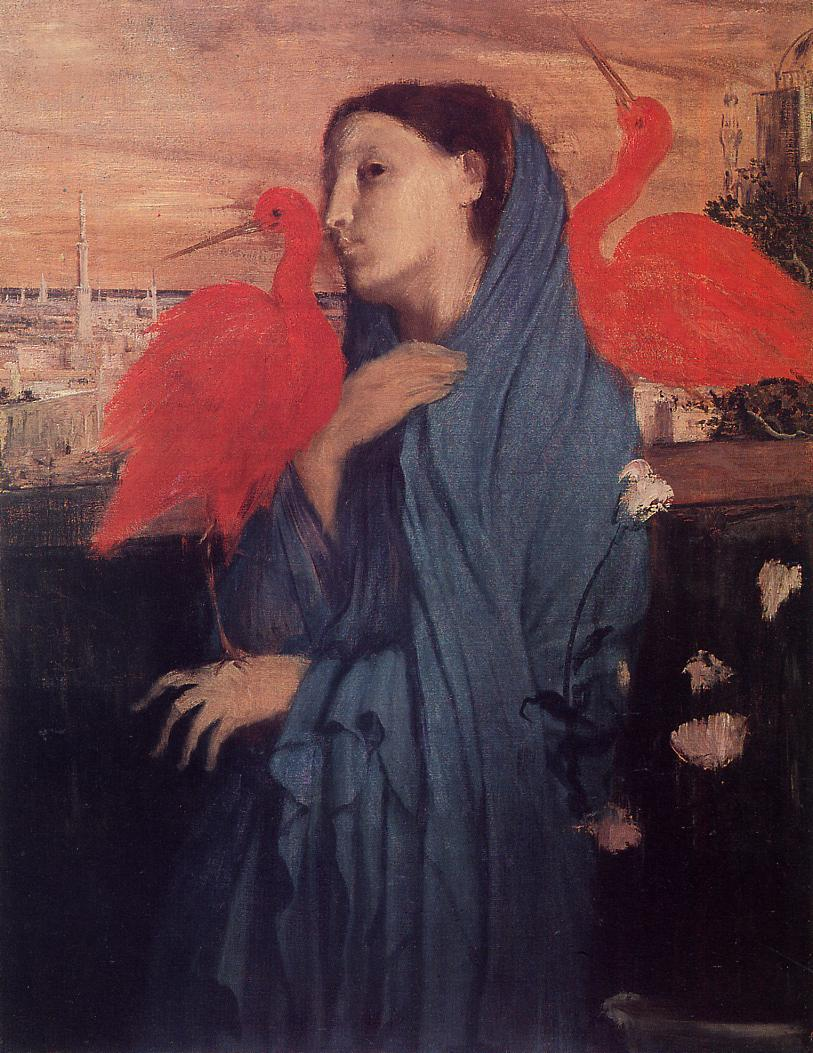 Woman on a Terrace (aka Young Woman and Ibis) 1857 | Edgar Degas | Oil Painting