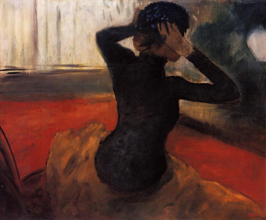 Woman Trying on a Hat 1884 | Edgar Degas | Oil Painting