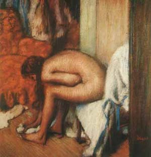 Woman Drying Her Feet | Edgar Degas | Oil Painting
