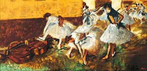 Dancers In The Green Room | Edgar Degas | Oil Painting