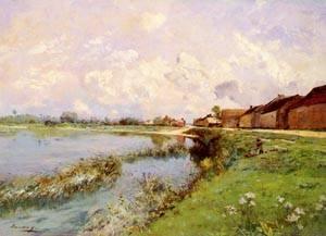 Paysage De Riviere   Edmond Charles Joseph Yon   Oil Painting