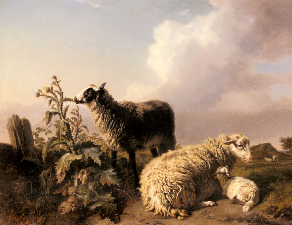 Les Moutons | Edmond Jean Baptiste Tschaggeny | Oil Painting