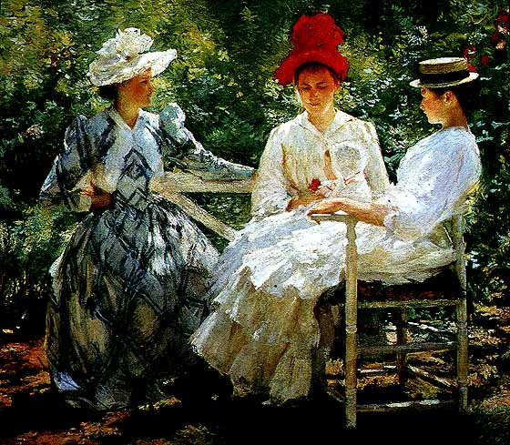 In a Garden | Edmund C Tarbell | Oil Painting