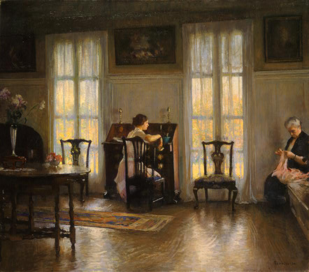 Mother and Mary | Edmund C Tarbell | Oil Painting