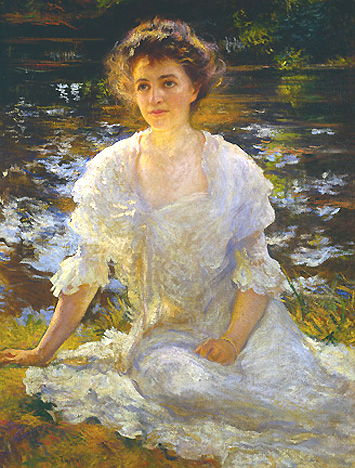 Portrait of Eleanor Hyde Phillips | Edmund C Tarbell | Oil Painting