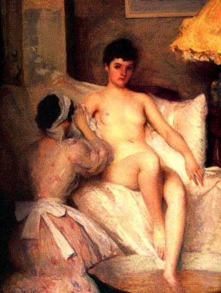 The Bath | Edmund C Tarbell | Oil Painting