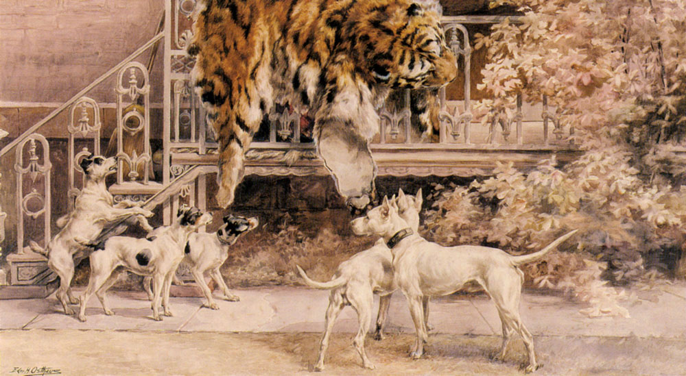 Hunting Tigers The Terriers | Edmund Henry Osthaus | Oil Painting