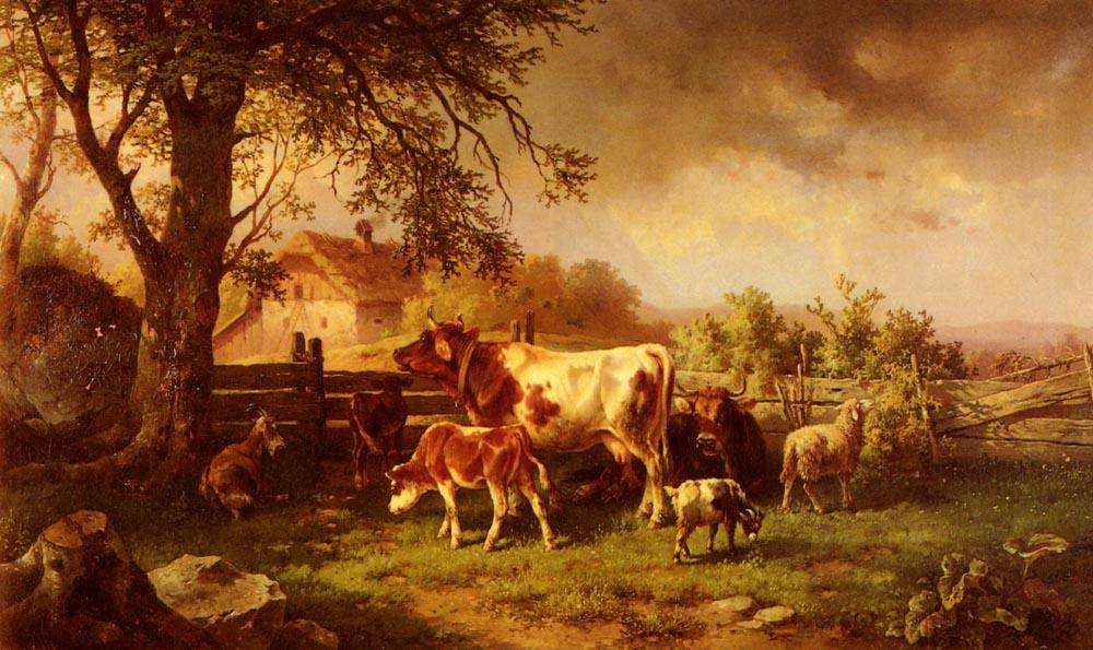 Farmyard Scene | Edmund Mahlknecht | Oil Painting