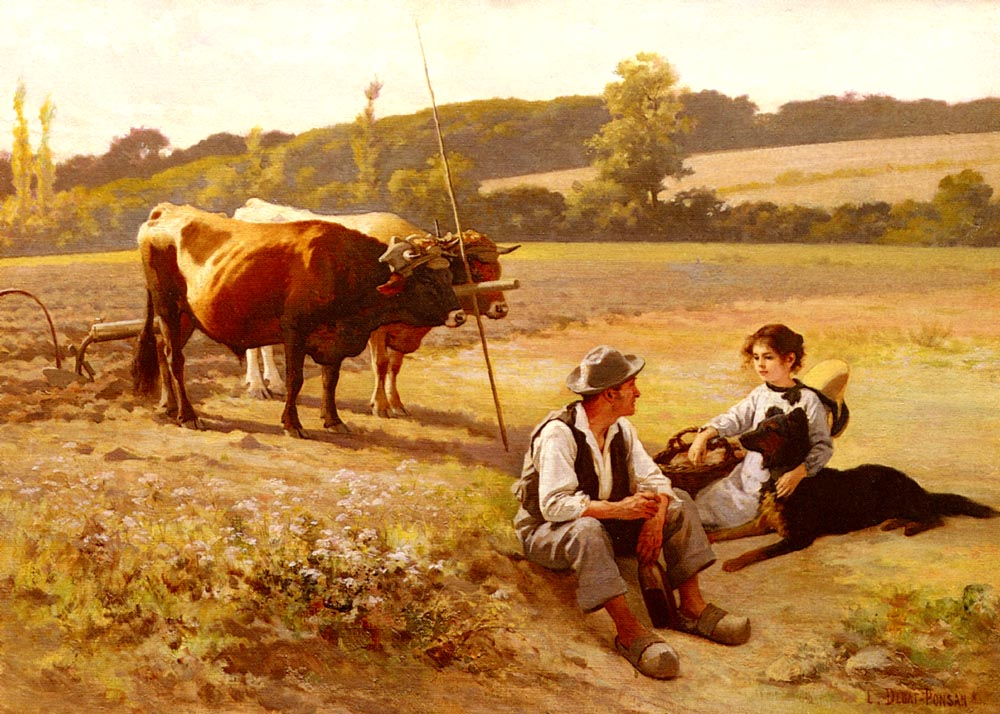 Rest In The Fields | Edouard Bernard Debat-Ponson | Oil Painting