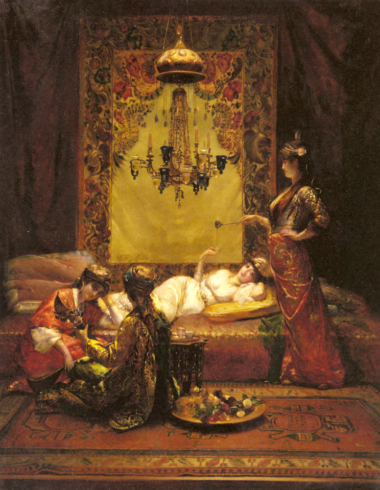 In The Harem | Edouard Frederic Wilhelm Richter | Oil Painting