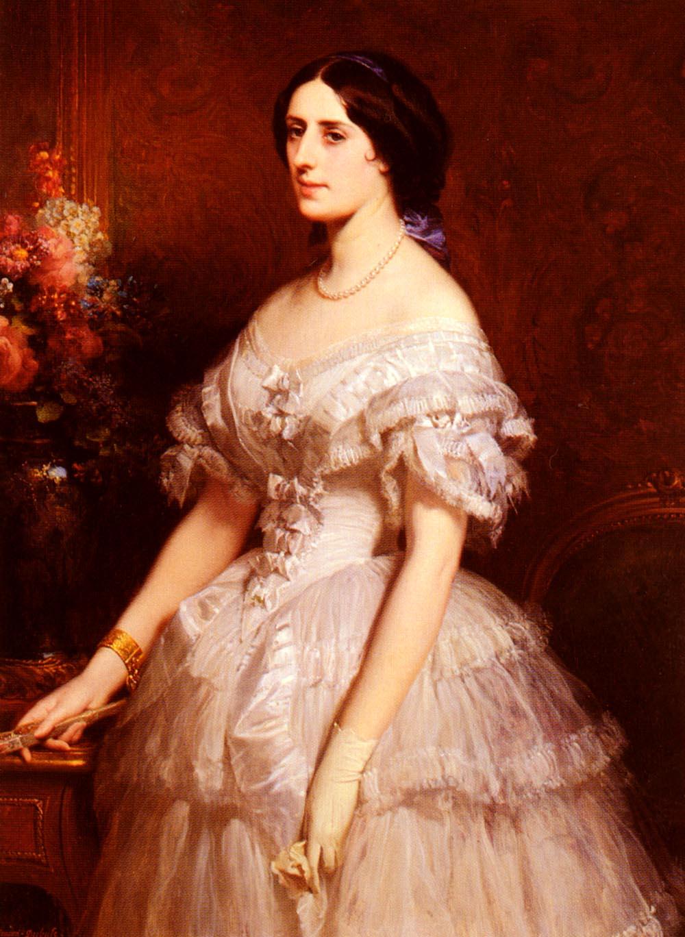 Portrait D Une Dame | Edouard Louis Dubufe | Oil Painting