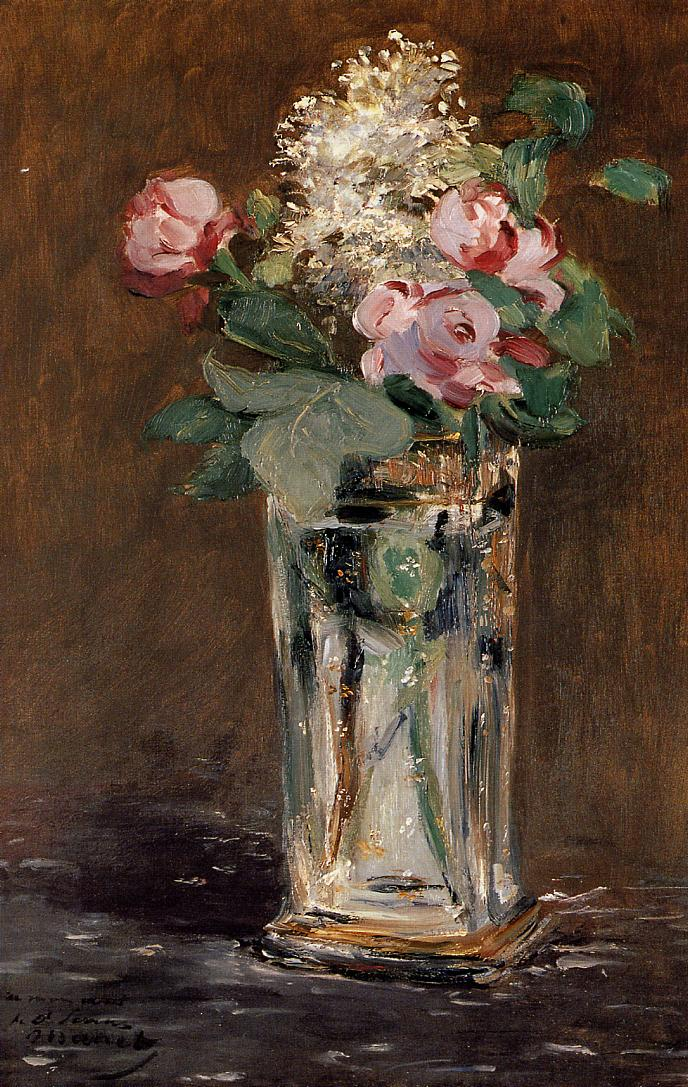 Flowers in a Crystal Vase 1882 | Edouard Manet | Oil Painting