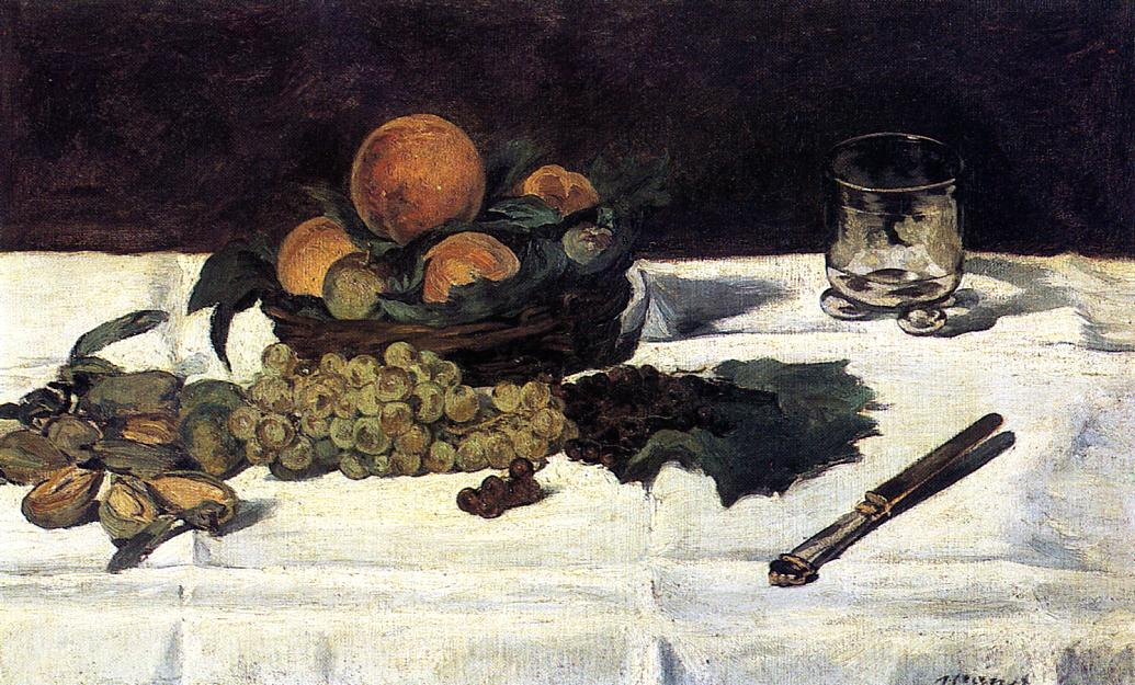 Fruit on a Table 1864 | Edouard Manet | Oil Painting