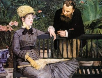 In the Conservatory 1879   Edouard Manet   Oil Painting
