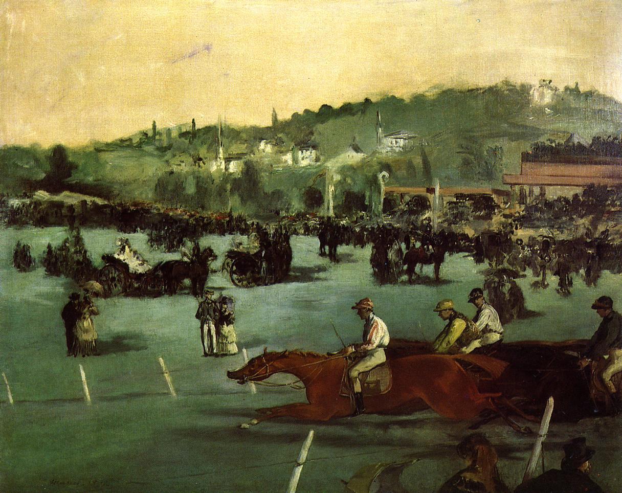 The Races in the Bois de Boulogne 1872 | Edouard Manet | Oil Painting