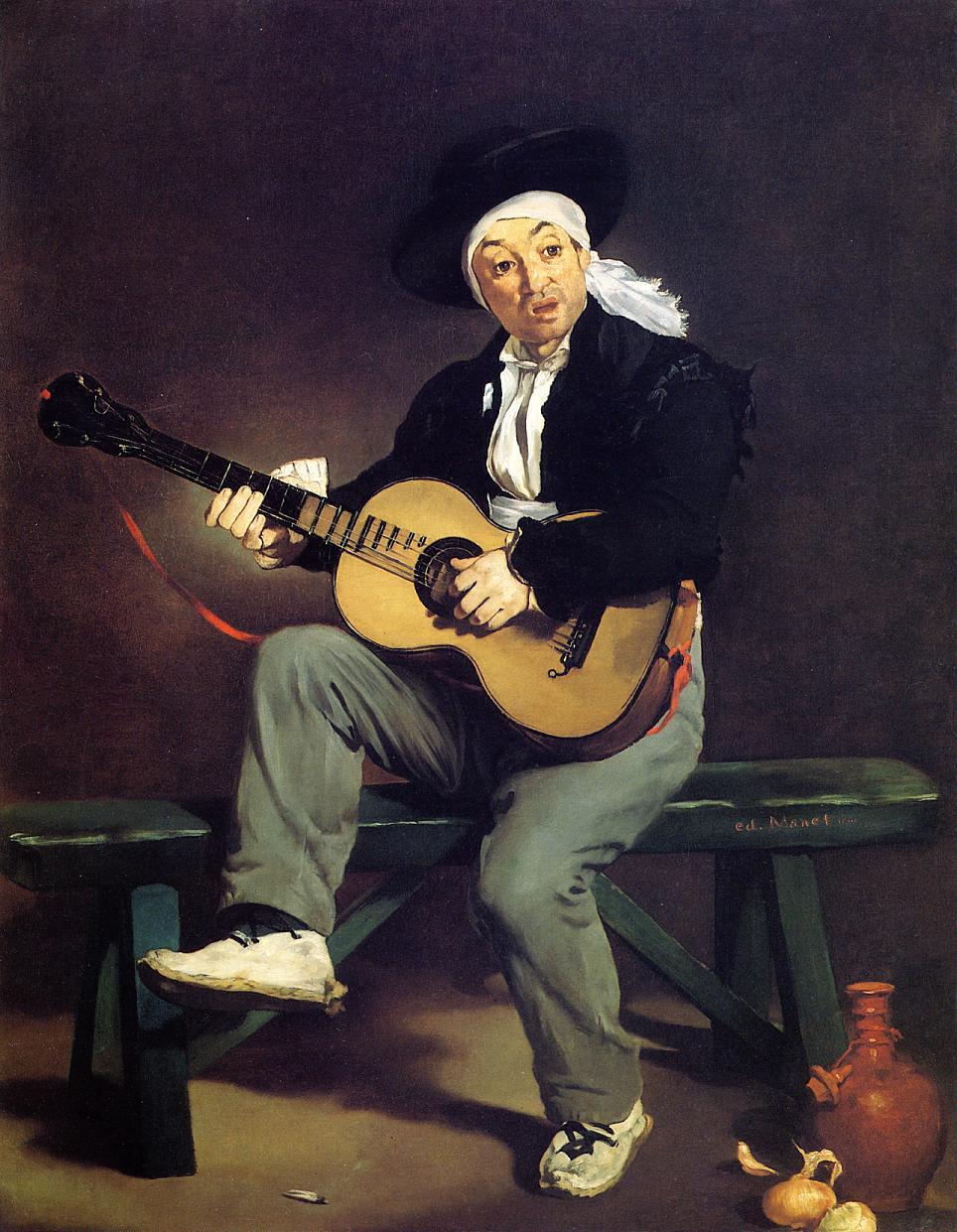 The Spanish Singer (aka Guitarrero) 1860 | Edouard Manet | Oil Painting