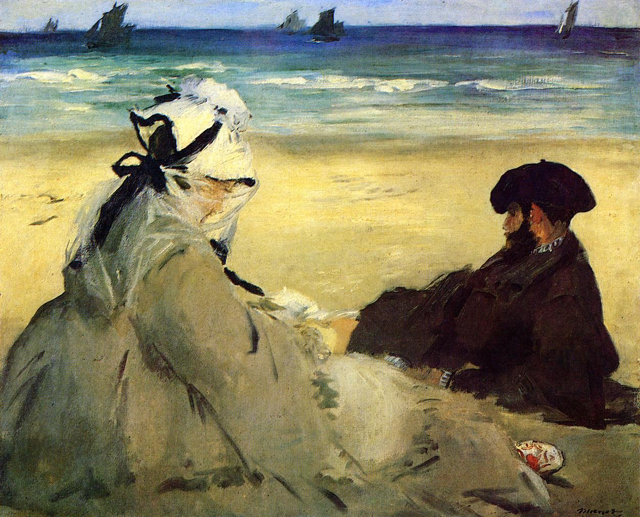 On the Beach 1873 | Edouard Manet | Oil Painting