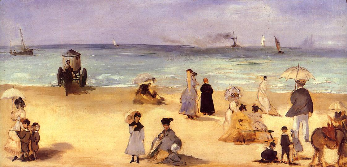 On the Beach at Boulogne 1869 | Edouard Manet | Oil Painting