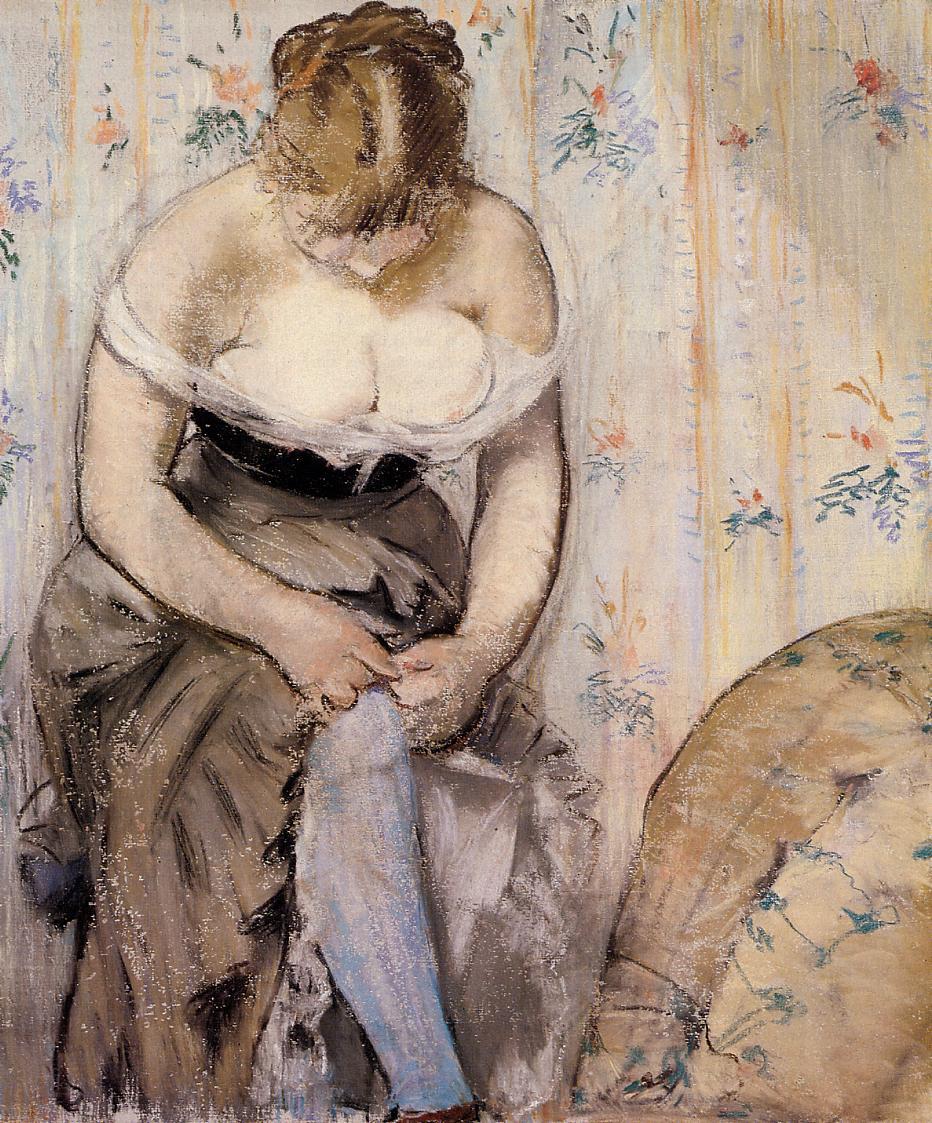 Woman Fastening Her Garter 1878 1879 | Edouard Manet | Oil Painting