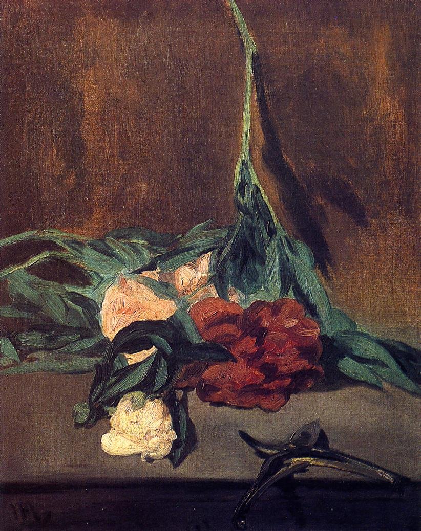 Peony Stems and Pruning Shears 1864 | Edouard Manet | Oil Painting