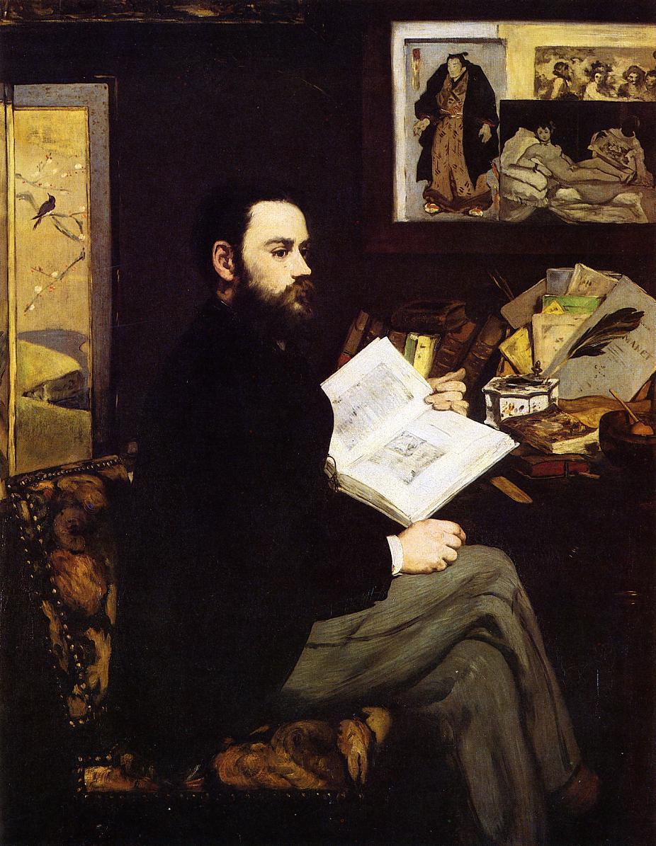 Portrait of Emile Zola 1868 | Edouard Manet | Oil Painting