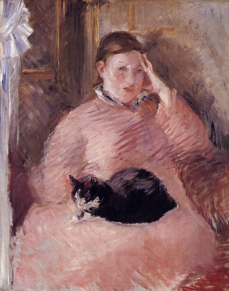 Woman with a Cat Portrait of Madame Manet 1882 1883 | Edouard Manet | Oil Painting