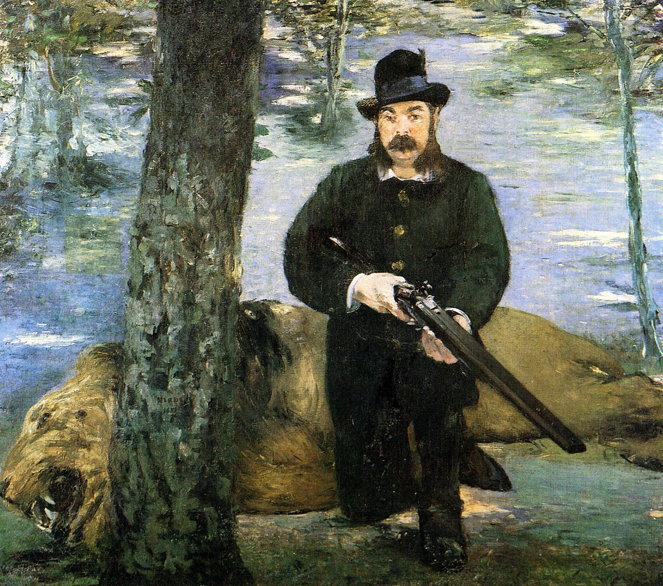 Portrait of M Pertuiset the Lion Hunter 1880 1881 | Edouard Manet | Oil Painting