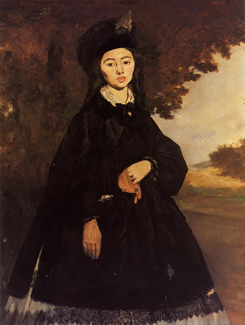 Portrait of Madame Brunet 1860 1867 | Edouard Manet | Oil Painting