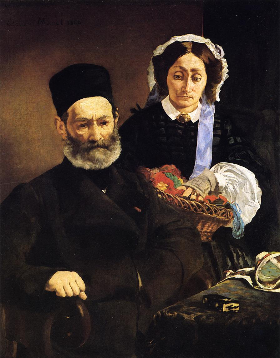 Portrait of Monsieur and Madame Manet 1860 | Edouard Manet | Oil Painting