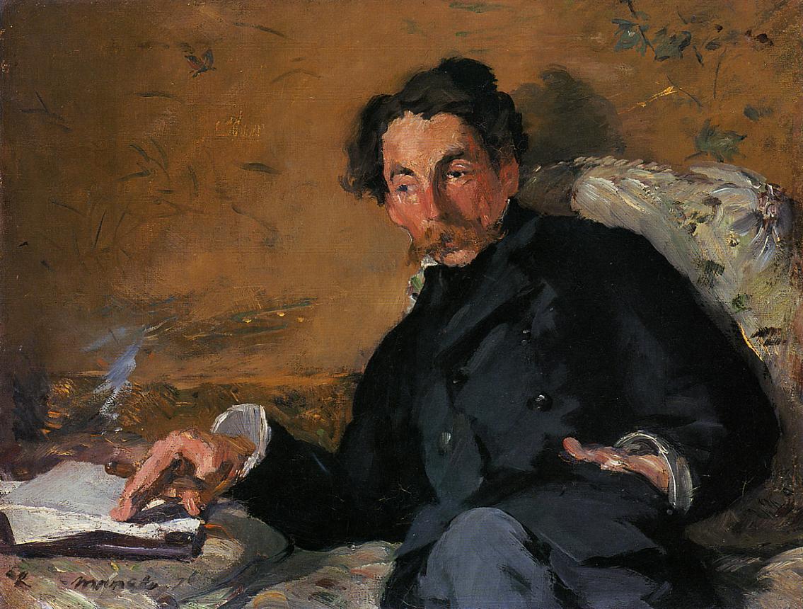 Portrait of Stephane Mallarme 1876 | Edouard Manet | Oil Painting