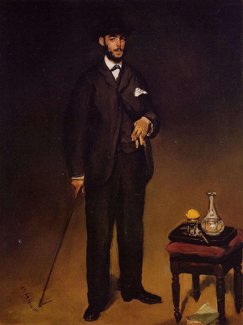 Portrait of Theodore Duret 1867 | Edouard Manet | Oil Painting