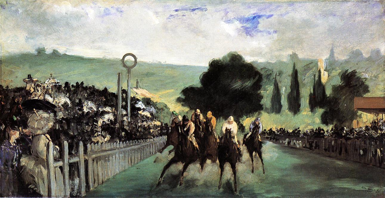 Races at Longchamp 1867 | Edouard Manet | Oil Painting