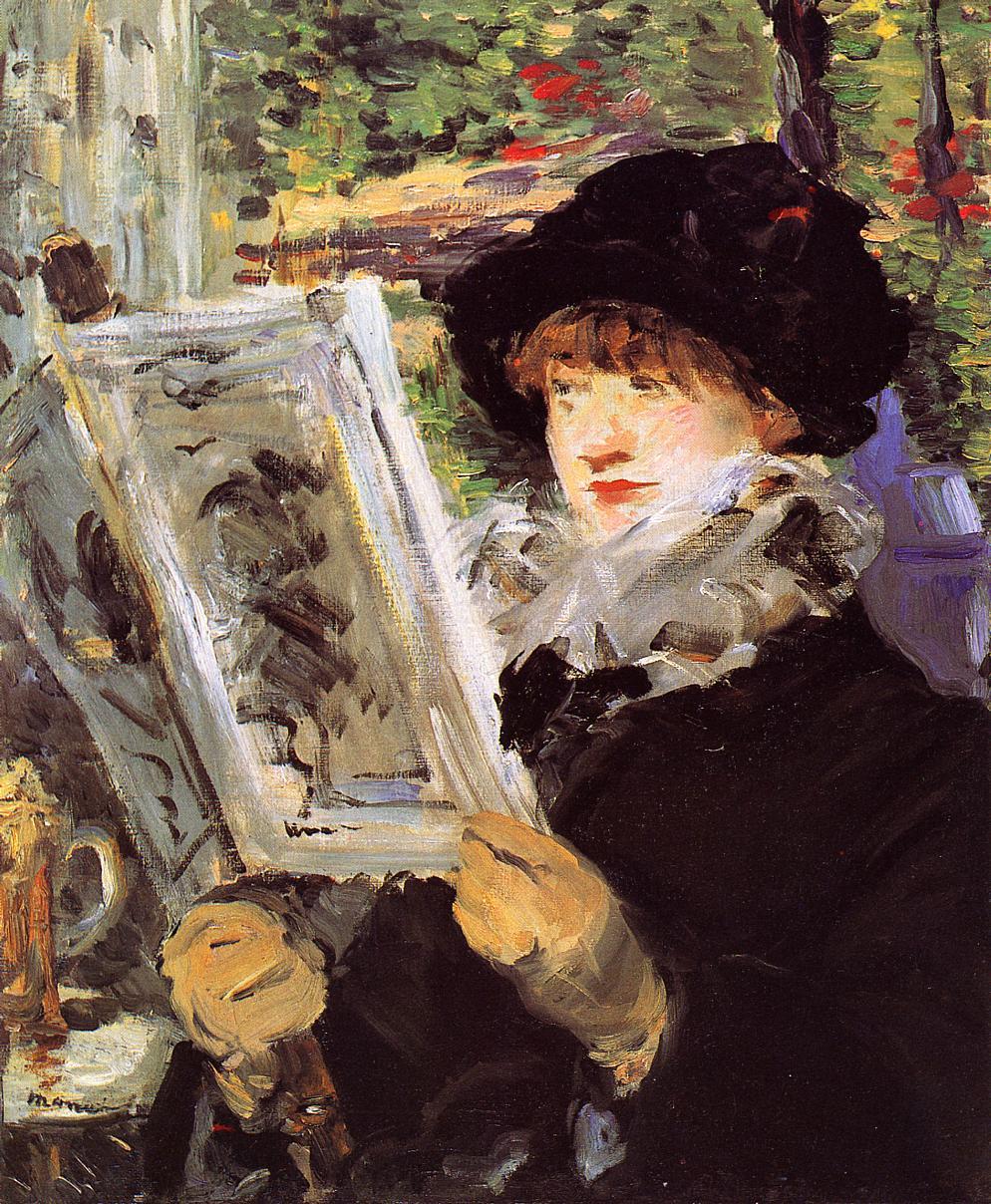 Reading (aka Reading L'Illustre) 1879 | Edouard Manet | Oil Painting