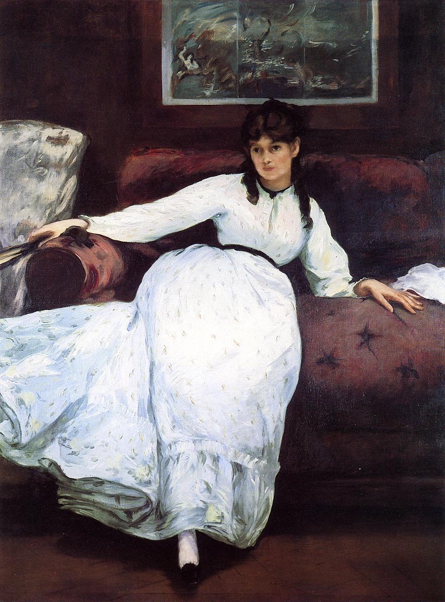 Repose Portrait of Berthe Morisot 1870 | Edouard Manet | Oil Painting