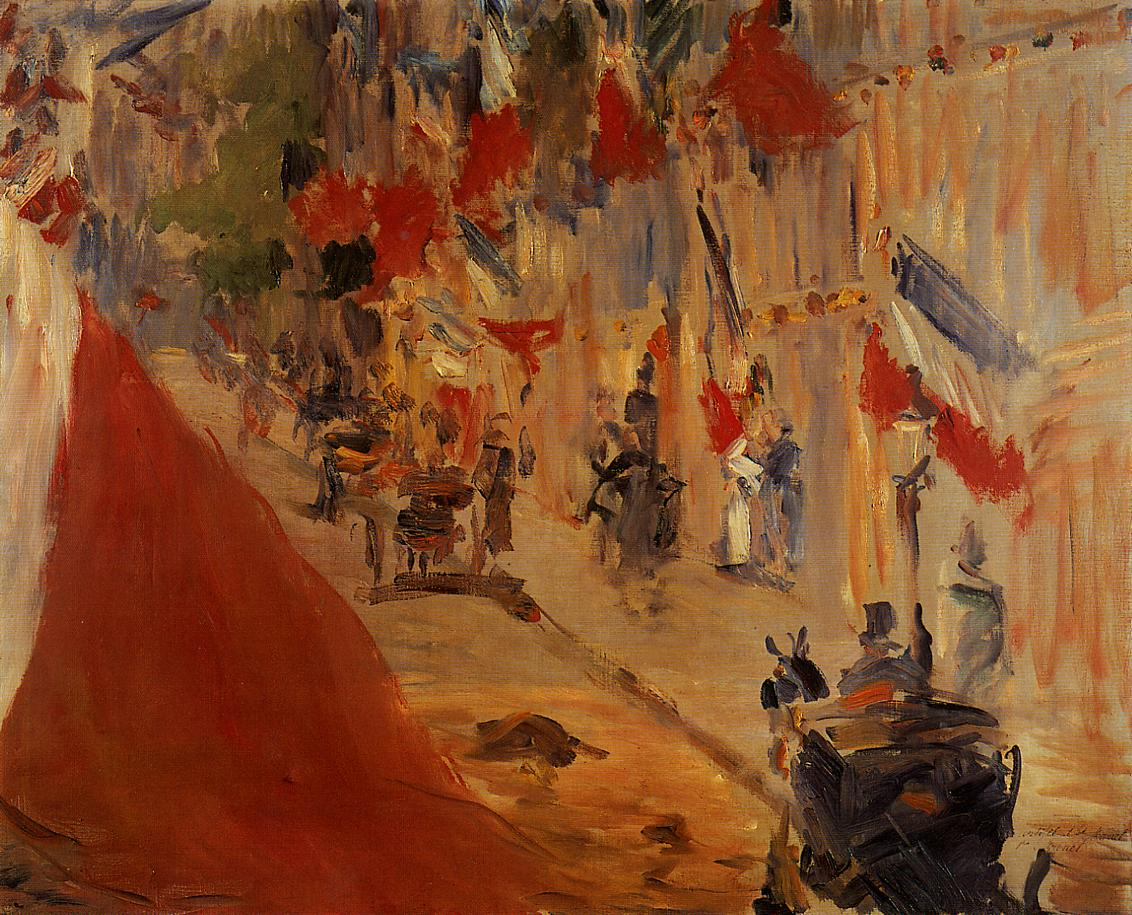 Rue Mosnier Decorated with Flags 1878 | Edouard Manet | Oil Painting