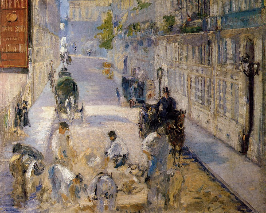 Rue Mosnier with Road Menders 1878 | Edouard Manet | Oil Painting