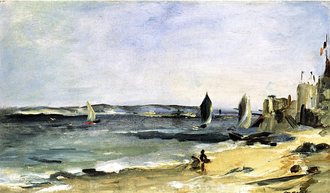 Seascape at Arcachon (aka Arcachon Beautiful Weather) 1871 | Edouard Manet | Oil Painting