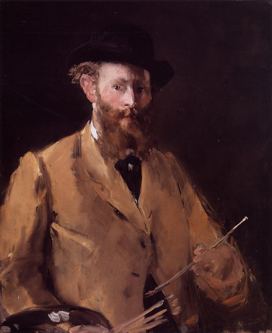 Self Portrait with Palette 1878 | Edouard Manet | Oil Painting