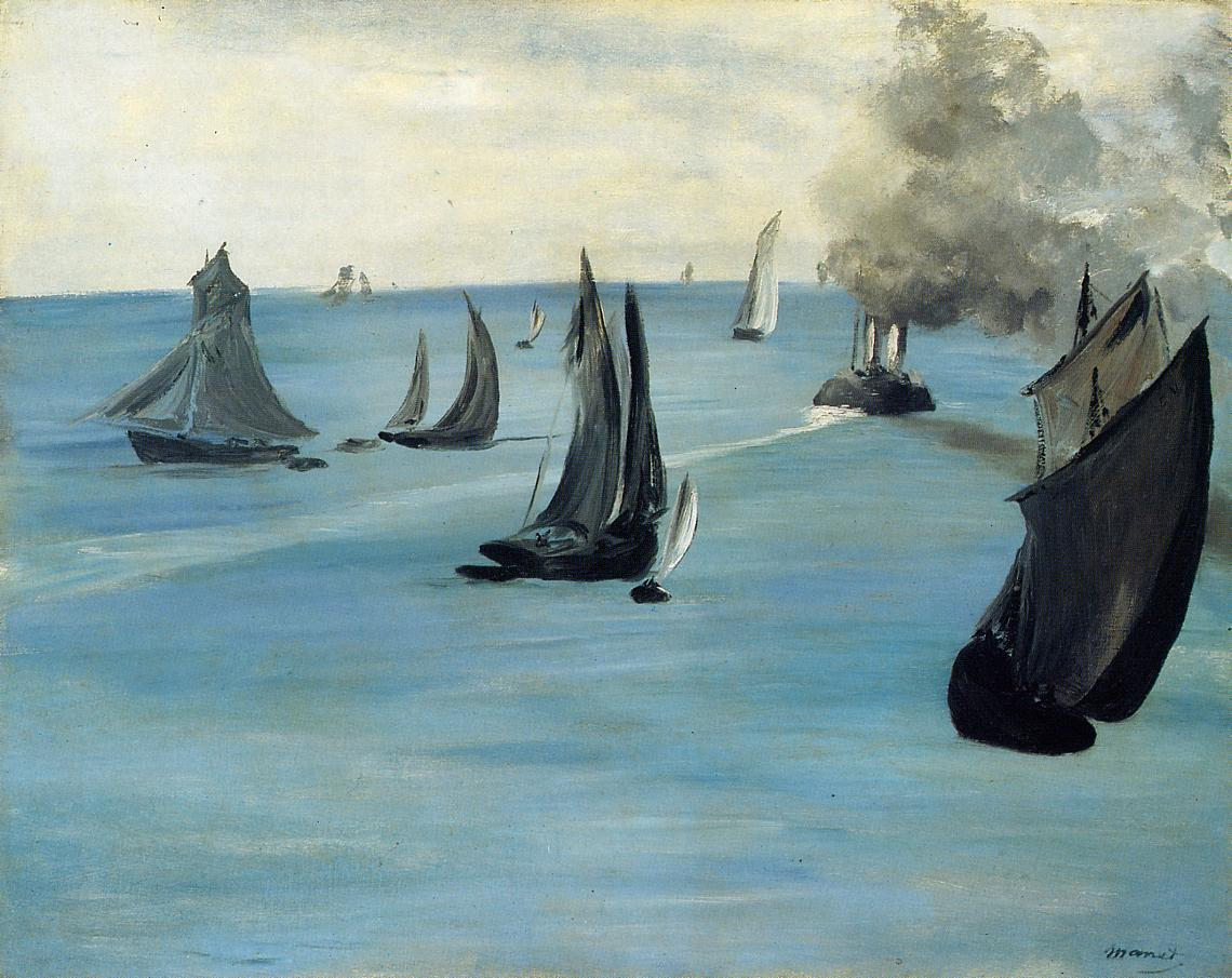 Steamboat (aka Seascape Calm Weather) 1864 1865 | Edouard Manet | Oil Painting
