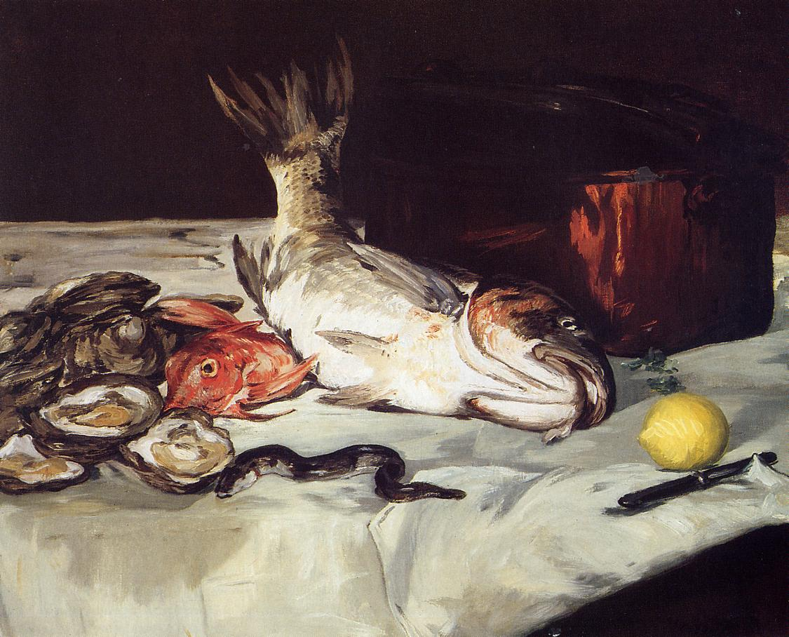 Still Life with Fish 1864 | Edouard Manet | Oil Painting
