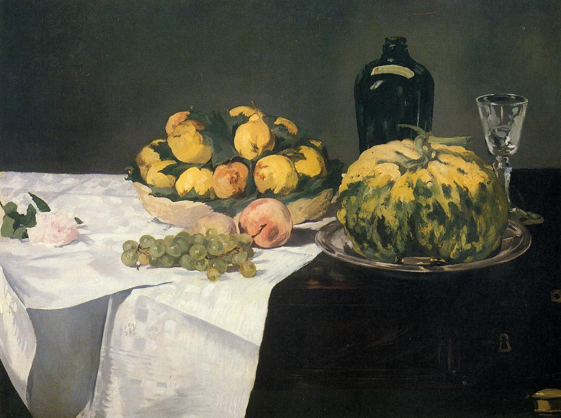 Still Life with Melon and Peaches 1866 | Edouard Manet | Oil Painting