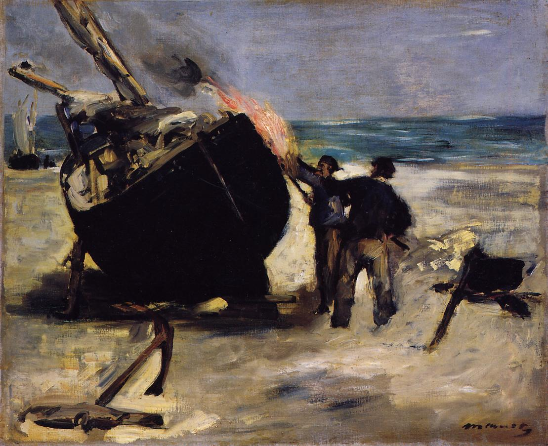 Tarring the Boat 1871 | Edouard Manet | Oil Painting