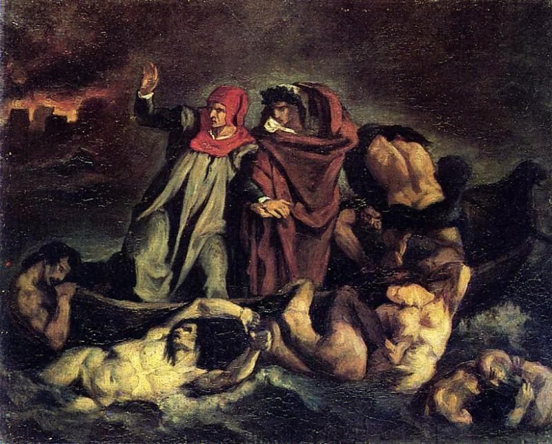 The Barque of Dante (after Delacroix) 1854 | Edouard Manet | Oil Painting