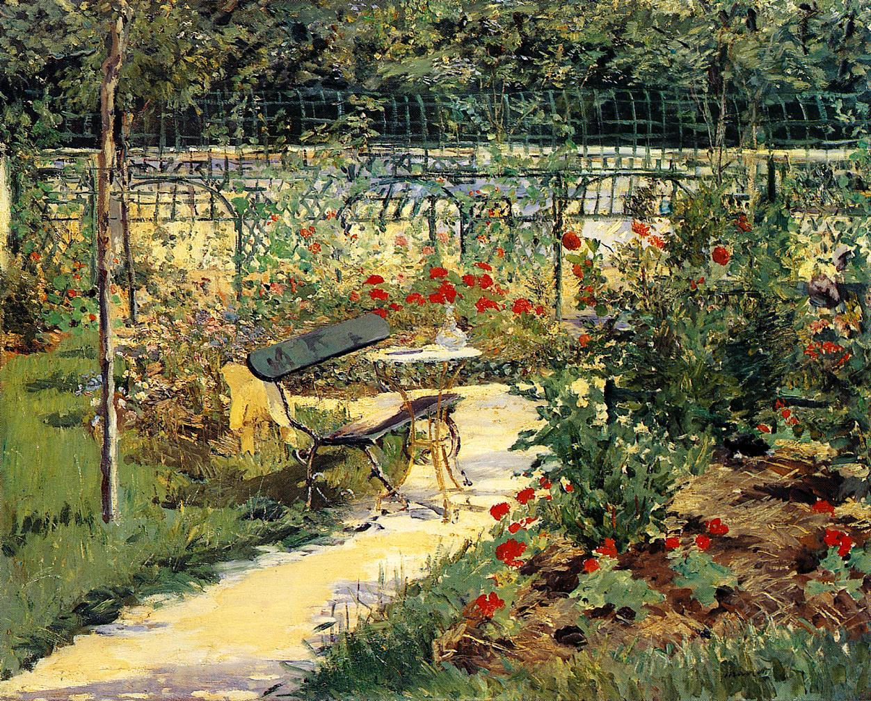 The Bench (aka My Garde) 1881 | Edouard Manet | Oil Painting