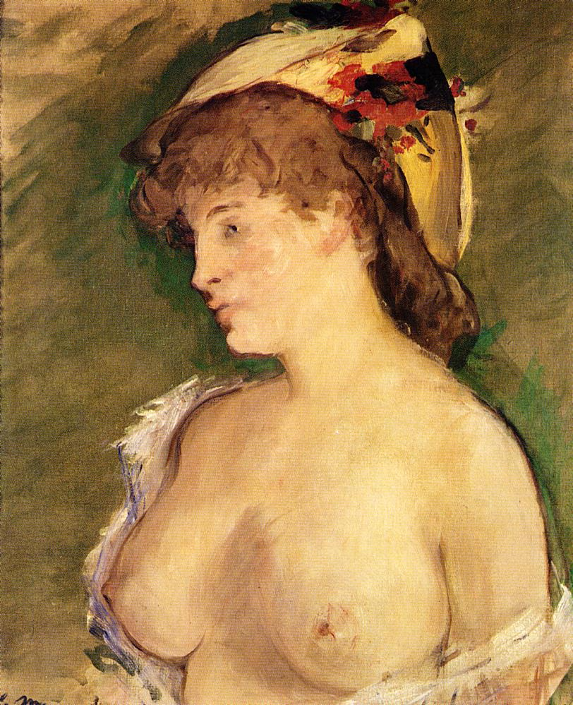 The Blond with Bare Breasts 1878 | Edouard Manet | Oil Painting