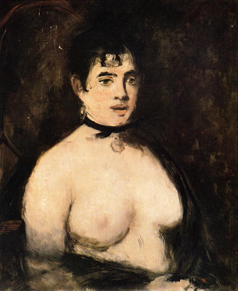 The Brunette with Bare Breasts 1872 | Edouard Manet | Oil Painting