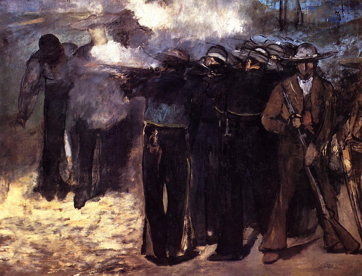 The Execution of the Emperor Maximilian 1867 | Edouard Manet | Oil Painting