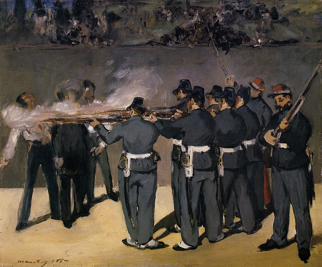 The Execution of the Emperor Maximillian 1867 | Edouard Manet | Oil Painting