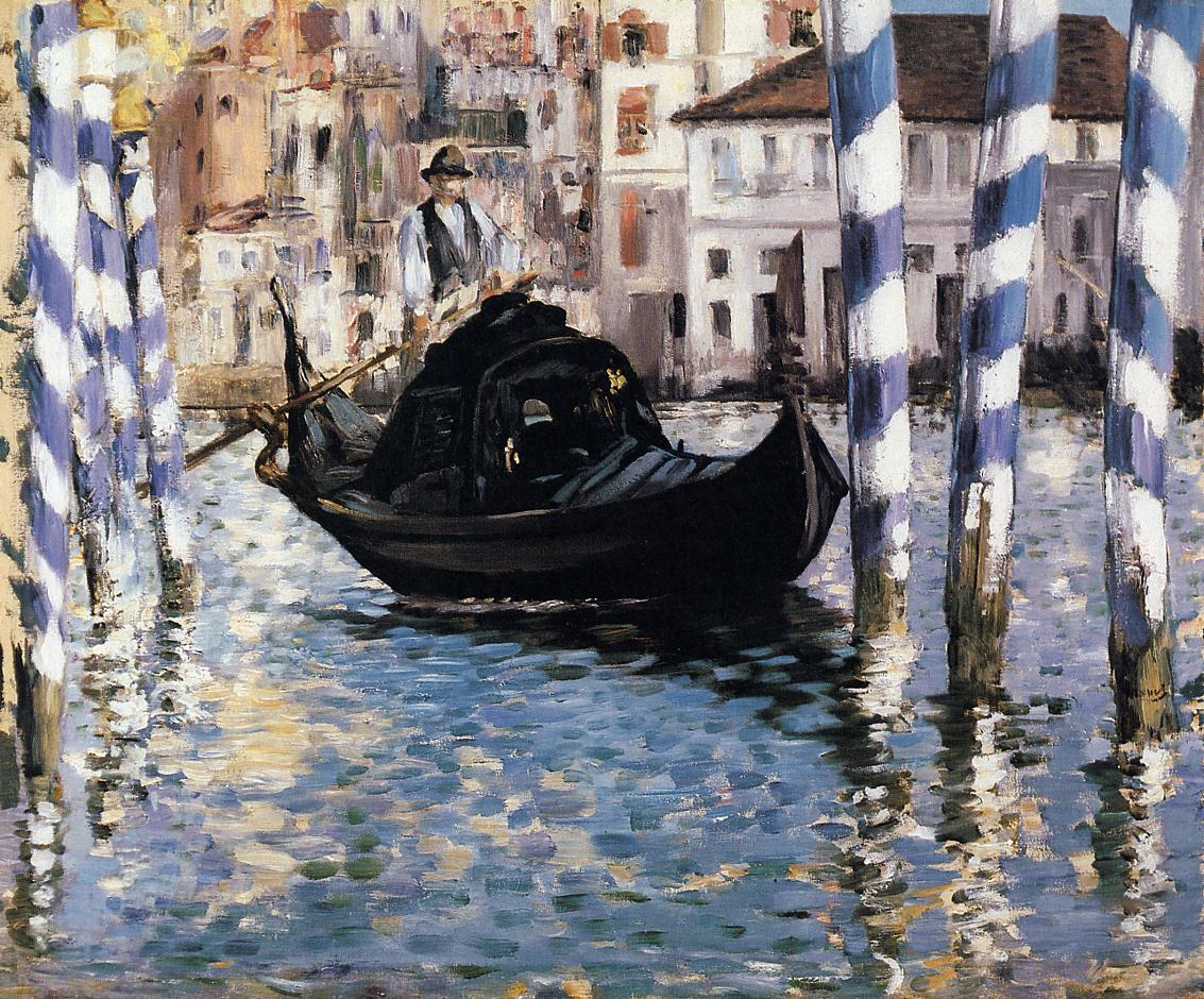 The Grand Canal Venice (aka Blue Venice) 1874 | Edouard Manet | Oil Painting
